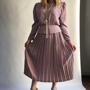 Dresses & Skirts - Vintage Pleated Tank Dress and Over Jacket